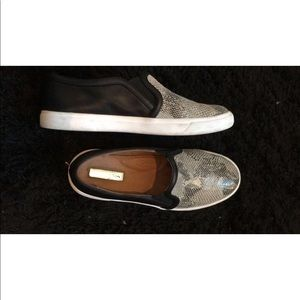 Halogen Shoes - Snake Print Halogen slip on sneakers